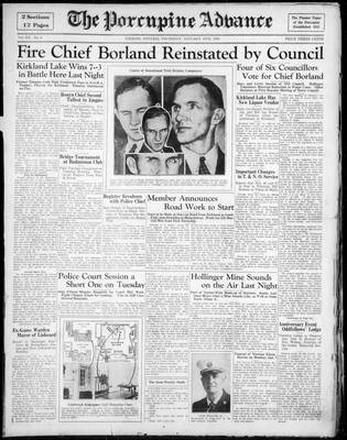 Porcupine Advance, 10 Jan 1935