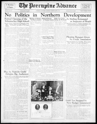 Porcupine Advance, 25 Mar 1935
