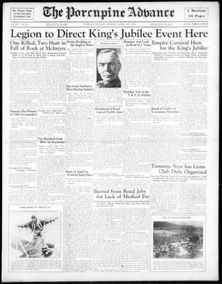Porcupine Advance, 1 Apr 1935