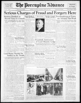 Porcupine Advance, 25 Apr 1935