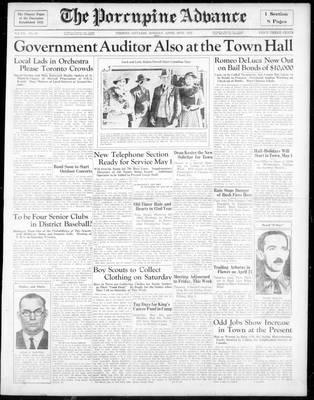 Porcupine Advance, 29 Apr 1935