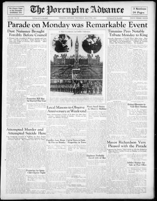 Porcupine Advance, 9 May 1935