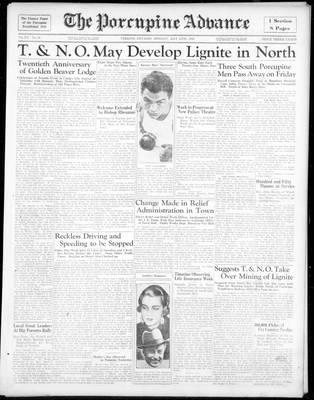 Porcupine Advance, 13 May 1935