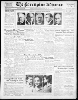 Porcupine Advance, 6 Jun 1935