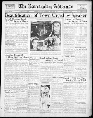 Porcupine Advance, 13 Jun 1935