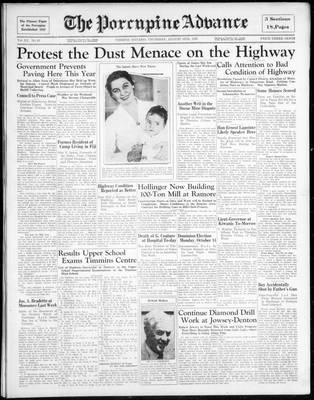 Porcupine Advance, 15 Aug 1935