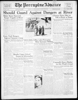 Porcupine Advance, 19 Aug 1935