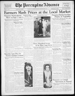 Porcupine Advance, 22 Aug 1935