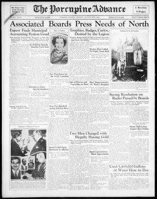 Porcupine Advance, 26 Aug 1935