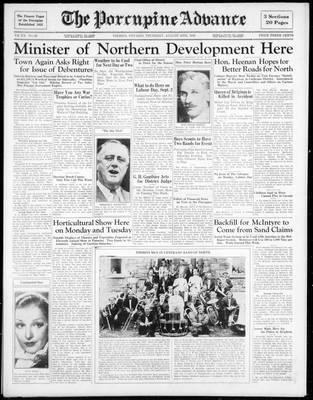 Porcupine Advance, 29 Aug 1935