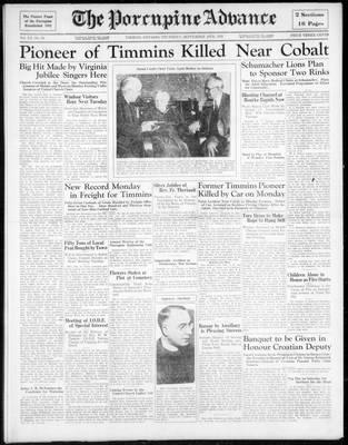 Porcupine Advance, 19 Sep 1935
