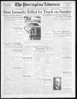 Porcupine Advance, 23 Sep 1935