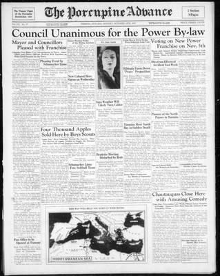 Porcupine Advance, 14 Oct 1935