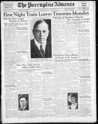 Porcupine Advance, 17 Oct 1935