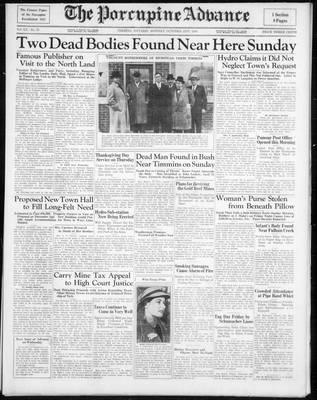 Porcupine Advance, 21 Oct 1935
