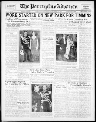 Porcupine Advance, 7 Nov 1935