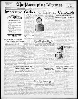 Porcupine Advance, 11 Nov 1935