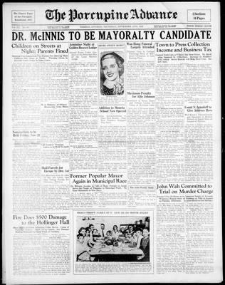 Porcupine Advance, 14 Nov 1935