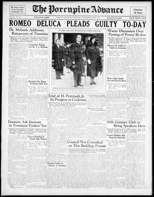Porcupine Advance, 28 Nov 1935