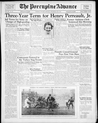 Porcupine Advance, 9 Dec 1935