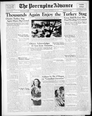 Porcupine Advance, 12 Dec 1935