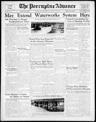 Porcupine Advance, 13 Jan 1936