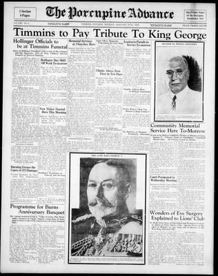 Porcupine Advance, 27 Jan 1936