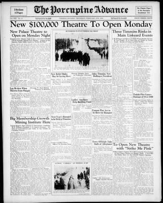 Porcupine Advance, 6 Feb 1936