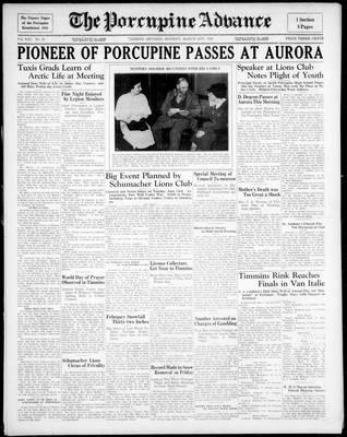 Porcupine Advance, 2 Mar 1936