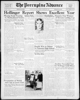 Porcupine Advance, 9 Mar 1936