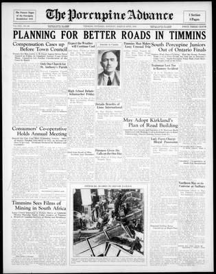 Porcupine Advance, 30 Mar 1936