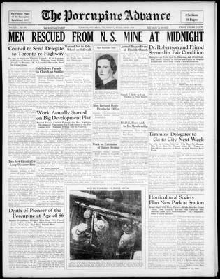 Porcupine Advance, 23 Apr 1936