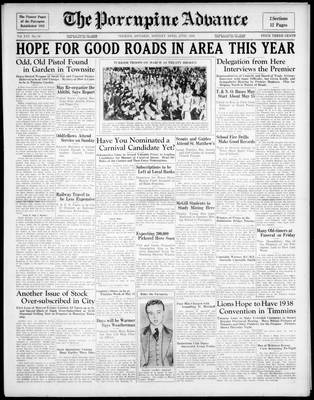 Porcupine Advance, 27 Apr 1936