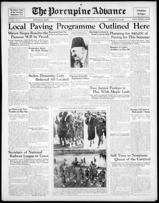 Porcupine Advance, 30 Apr 1936