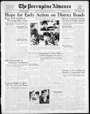 Porcupine Advance, 4 May 1936