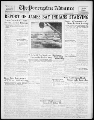 Porcupine Advance, 18 May 1936