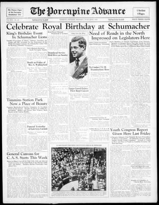 Porcupine Advance, 22 Jun 1936