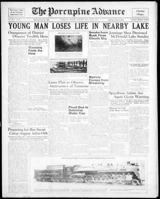 Porcupine Advance, 13 Jul 1936