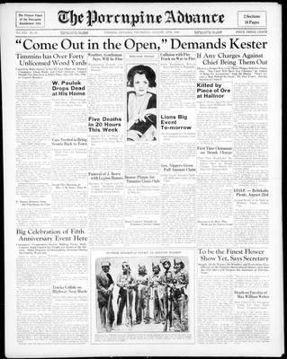 Porcupine Advance, 13 Aug 1936