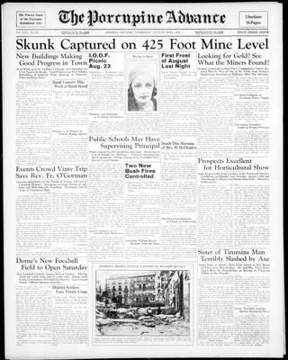 Porcupine Advance, 20 Aug 1936