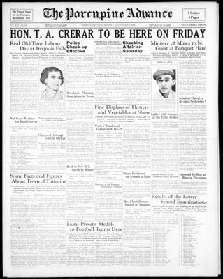 Porcupine Advance, 24 Aug 1936