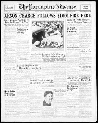 Porcupine Advance, 27 Aug 1936