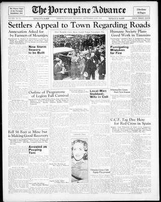 Porcupine Advance, 10 Sep 1936