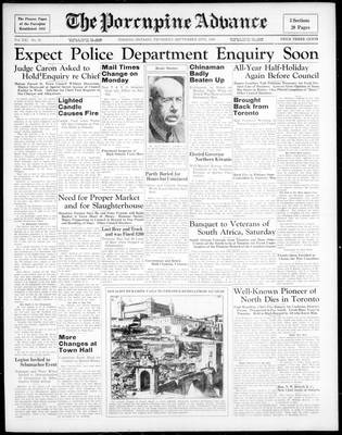 Porcupine Advance, 24 Sep 1936