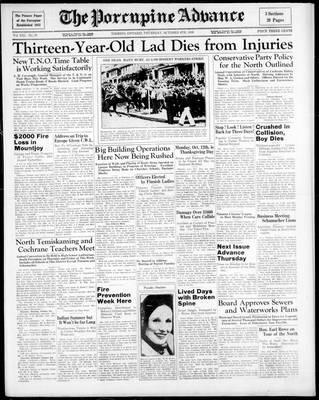 Porcupine Advance, 8 Oct 1936