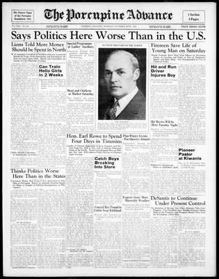 Porcupine Advance, 26 Oct 1936