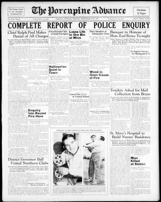 Porcupine Advance, 2 Nov 1936