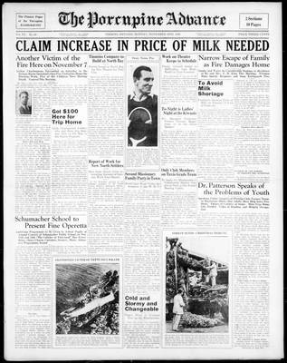 Porcupine Advance, 16 Nov 1936