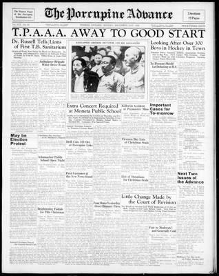 Porcupine Advance, 21 Dec 1936