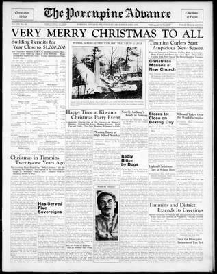Porcupine Advance, 23 Dec 1936